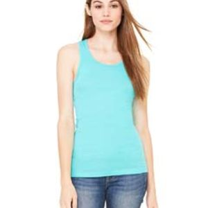 Ladies' Sheer Mini Rib Racerback Tank Thumbnail