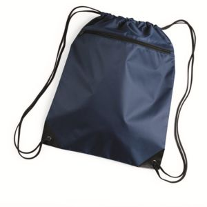 Denier Nylon Zippered Drawstring Backpack Thumbnail